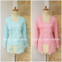 blouse brokat muslim / setelan kutubaru / atasan kebaya brokat xl xxl