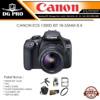 CANON EOS 1300D KIT 18-55MM IS II PAKET BONUS - CAMERA DSLR KIT IS 2
