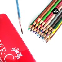 Faber Castell 24 WaterColour Watercolor Pencil Pensil Warna Tin Case