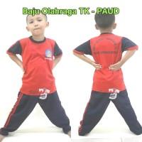 Kaos olahraga anak TK hitam merah