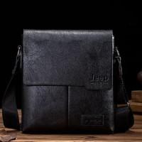 Tas Selempang Kulit Pria Sling Bag Premium Leather Jeep Buluo hitam