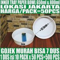 Inner tray paper bowl 650ml n 800ml pack 50ps hanya inner tray Jakarta