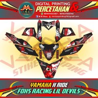 DECAL STICKER MOTOR FULL BODY YAMAHA X RIDE FOXS RACING LIL DEVILS
