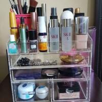 acrylic makeup/akrilik organizer/rak kosmetik akrilik/display cosmetic