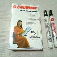 Spidol snowman white board marker murah
