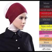 FREE ONGKIR Ciput Inner Bandana Hijab Rajut Polos Anti Pusing Wanita