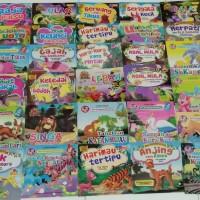 Buku Anak, Buku Cerita bergambar Seri fabel 2 Bahasa.