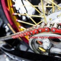TDR Chain Color 428D 130L Rantai Racing Motor Variasi Warna Silver