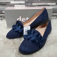 flat shoes details rempel warna navy