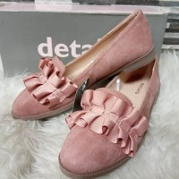 flat shoes details rempel warna pink
