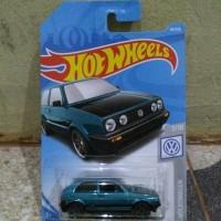 Hotwheels VW GolF MK2 biru