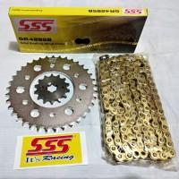 Gear set SSS Yamaha R15 lama V2 - Xabre rantai SSS Gold