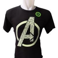 Baju Kaos Glow Avengers Marvel Tshirt Superhero M-XXXL Rhymes