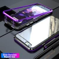 Casing Luxury Magnetic Metal Case For iPhone X 8 7 6 S 6S Plus Coque