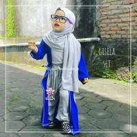 Gisela Set - Setelan Busana Muslim Balita Kekinian dgn Pasmina Instan