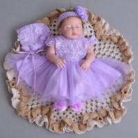 PO Boneka Reborn Purple Dress / Boneka Mirip Bayi NPK