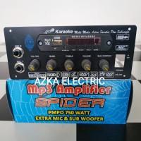 Kit Power Amplifier Speaker Aktif Plus MP3 USB 750W PMPO