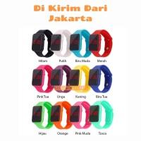 Jam Tangan Digital Led Display / Fashion Led Strap Rubber / Jam Tangan - Pink Tua