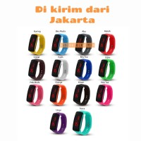 Jam Tangan Digital Led Display / Fashion Led Strap Rubber Unisex