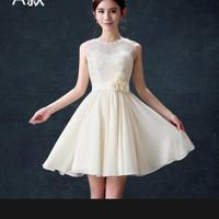 mini dress broken white lily