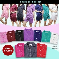 PP Baju Tidur Piyama Pajamas SATIN Sleepwear Baju Pendek Celana Pendek