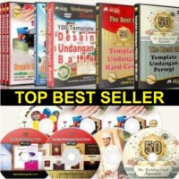 Terlaris Koleksi Template Desain Undangan 10 DVD Top Best Seller
