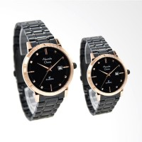 Alexandre Christie Jam Tangan Couple - Black Rose Gold[8528