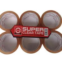 Lakban DAIMARU Super Clear FLAT PACK 48 mm x 50 meter ( Isi 6 Pcs )