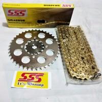 Gear set SSS RX King 428 rantai GOLD