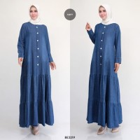 Gamis Jeans Seam Button BE3219