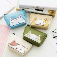 Dompet koin dan kartu / coin purse CAT FACE edition