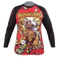 Rushgard Rashguard Longsleeve - Hanuman - Baselayer Compression - Merah, M