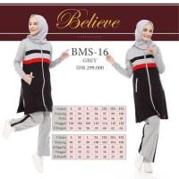 Believe BMS 16 - Baju Muslim Senam Olah Raga Syar'i Termurah Original