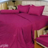 Vallery - Sprei Queen T.30 Jacguard / Aloe Vera motif Light Purple