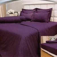 Vallery - Sprei Queen T.30 Jacguard / Aloe Vera motif Purple