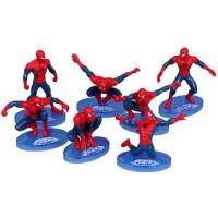 Set 7 pcs Spiderman Action Figure Mainan Anak Laki Pajangan Hiasan Kue