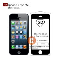 Full Cover Tempered Glass Warna 5D Iphone 5 / 5s / SE