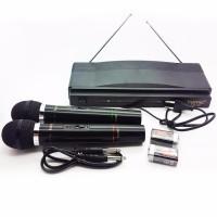 Homic Microphone Mic Double Wireless HM-306 Karaoke