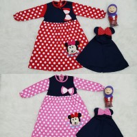 Baju Muslim Anak Bayi Perempuan Gamis Anak Bayi Perempuan Minnie Pita