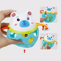 Mainan Rattle Ball Bola Kerincing Bayi Theeter Soft Rattle Baby Toys - FROG