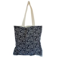 The KiliSuci Batik & Craft Totebag Tenun Motif Etnig Navy - Tali Putih