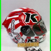 helm kyt rc seven white red