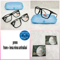 kacamata frame minus kotak besar 56 mm
