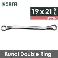Kunci Ring Double 19 mm x 21 mm - Double Box End Wrench 42207 SATA TOO