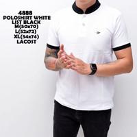 Polo Shirt Putih Polos Pria / Kaos Polo Berkerah