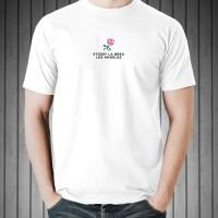Kaos Distro T-Shirt White Stussy La Brea Los Angeles O6102