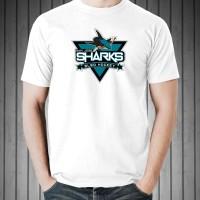 Kaos Distro T-Shirt White San Jose Sharks W6249