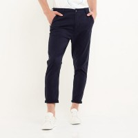 Minarno Straight Chino Pants - Navy