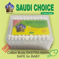 COTTON BUD | PEMBERSIH TELINGA SAUDI CHOICE EXTRA AMAN Box isi 63 pcs