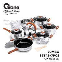Oxone Jumbo Set Cookware 12 7 Pcs OX-988FSN